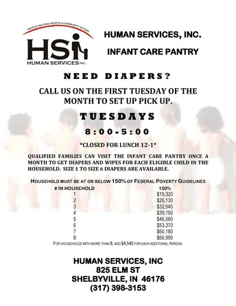 Human Services Infant Care Pantry