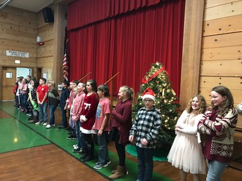 5th graders singing for us!