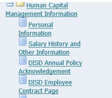 Step 4: Select DISD Employee Contract Page