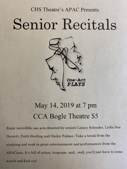 APAC Senior Recital Flyer