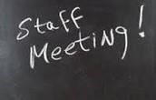 Licensed Staff Meeting