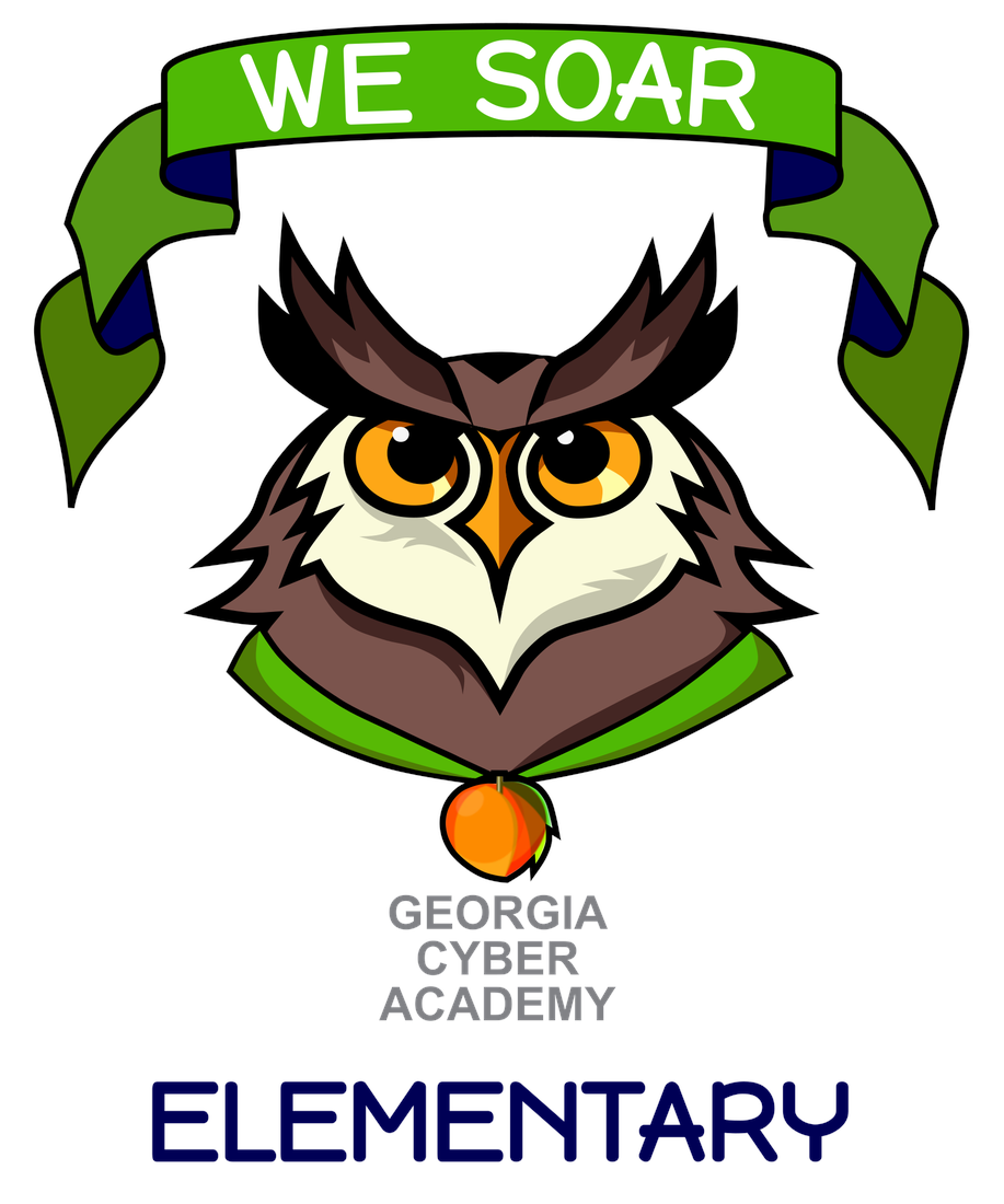 Picture of GCA Elementary School logo with eagle and we soar