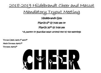 Hildebrandt Cheer Tryout Information