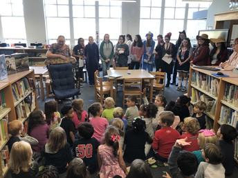Chatham Elementary students enjoy visit from MRHS Sandscript Club