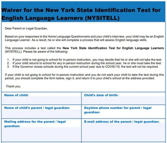 NYSITELL Parent Waiver