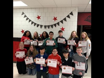 8th Grade Students of the Month - December