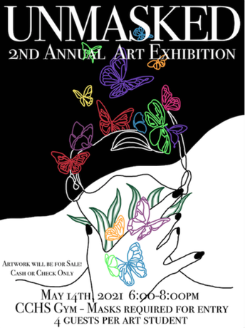 UNMASKED - 2nd Annual Art Exhibition, May 14th