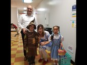 Mr. Subas & Scarecrow with Dorothy 1 & 2!