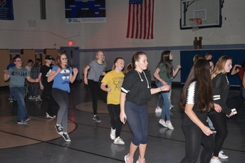Who doesn't enjoy a good line dance?