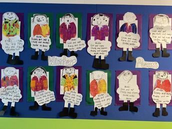 Lovely 'winter' artwork at the junior school