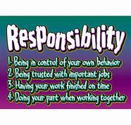 Character Trait of the Month.... Responsibility