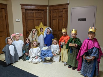 The first grade worked so hard to present the Nativity