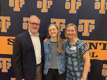 Jordan Conklin and proud parents