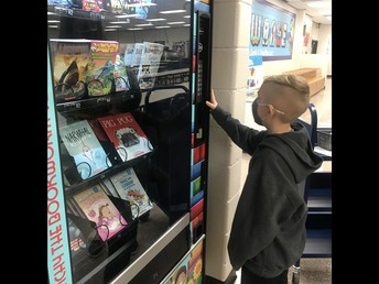 Thanks to our PTA and the wonderful fundraiser participation we are able to keep our book vending machine filled with new books.