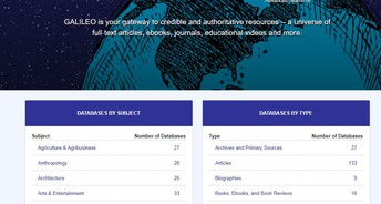 Search Galileo by Topic, Subject, Journal and More!
