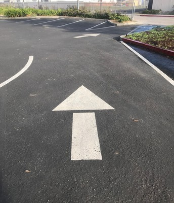 Follow the arrows.