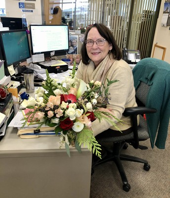 Retirement flowers for Chris!