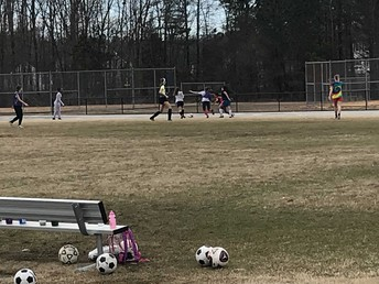 Carver Girls Soccer Team.  Practice makes perfect!