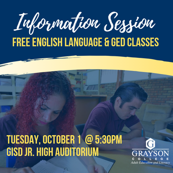 FREE GED and ESL classes