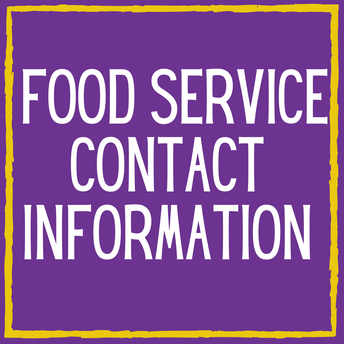 Food Service Contact Information