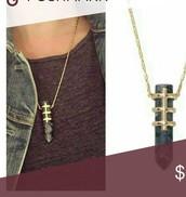 gold legend pendant necklace
