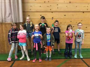 CES students making good choices!  Drawing winners from PBIS Mountain Money!