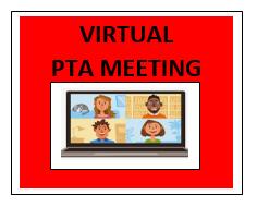 Virtual PTA Meeting - Tuesday, September 22nd - 5:30pm