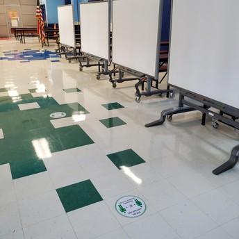 Lunch Room floor stickers
