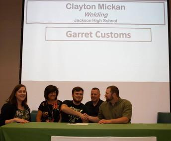 Clayton Mickan, Welding