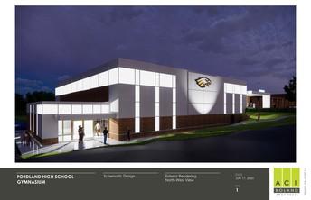 New Activity Center/Safe Room - Northwest Entrance