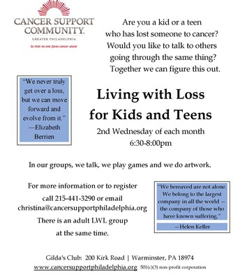 Living with Loss for Kids & Teens