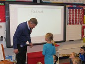 PCMS Principal, Mr. Cooney, Lends his Name to Mrs. Rogers' Class