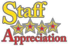 May- Staff Appreciation Month