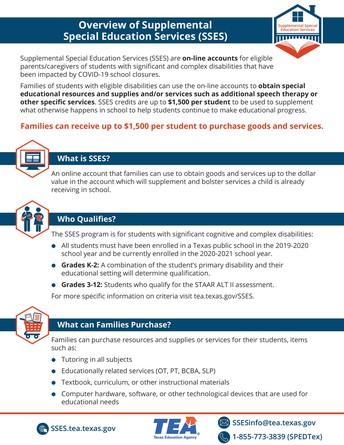 Servicios complementarios de Educación Especial (SSES)