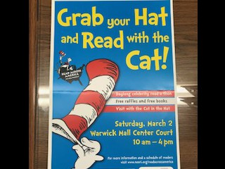 March 2nd: Annual Seuss Event at Warwick Mall