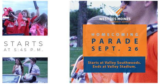 Homecoming Parade Promo with photos