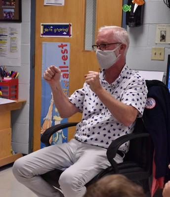 "Mr. Mark teaching ""Apples in a Tree"""
