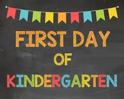 The first days of Kindergarten