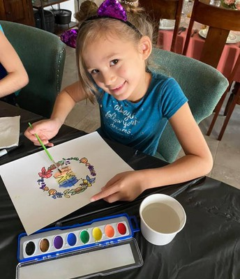 Emma had a lot of fun during art club!