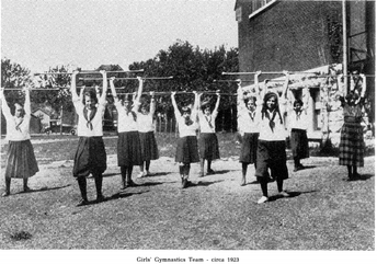 Girls' Gymnastics Team 1923