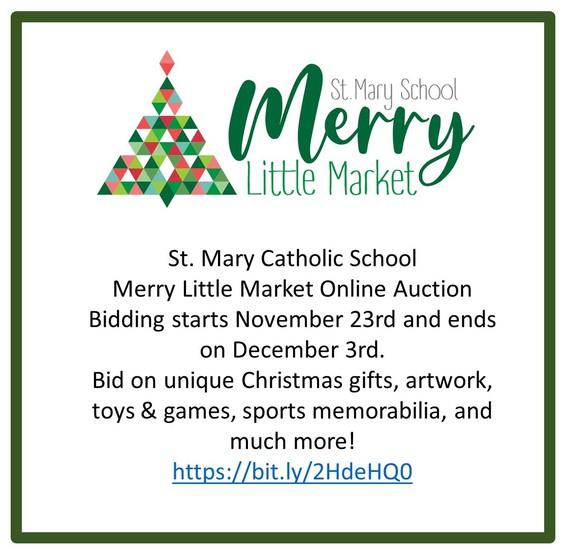 St. Mary School Merry Little Market