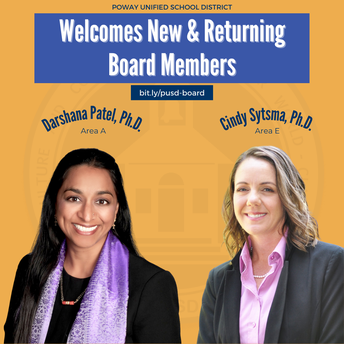 Trustees Patel & Sytsma Elected to PUSD Board
