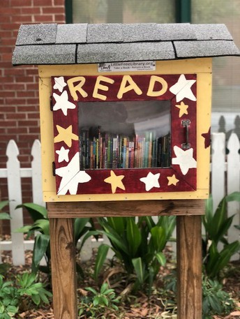Need a new book? The Little Free Library is waiting for you!
