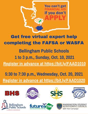 FAFSA/WAFSA flyer
