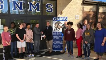 Calumet Bank Donates to Gardner Newman Middle School