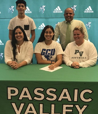 Softball player, Jadalynn Rodriguez, signed to Georgian Court University.