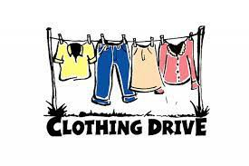 Student Council Clothing Drive!