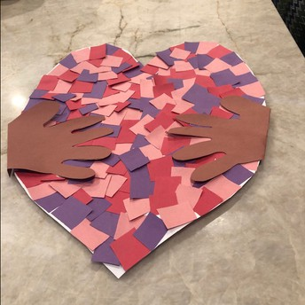 Share Your Own Paper Hug Heart