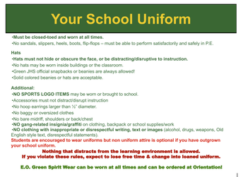 Uniform and Non-Uniform Dress Code Policy