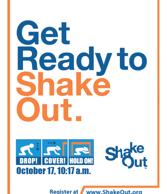 The Great Shakeout on 10/17 at 10:17am